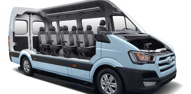 Hyundai H350 Fuel Cell Concept on car inverter