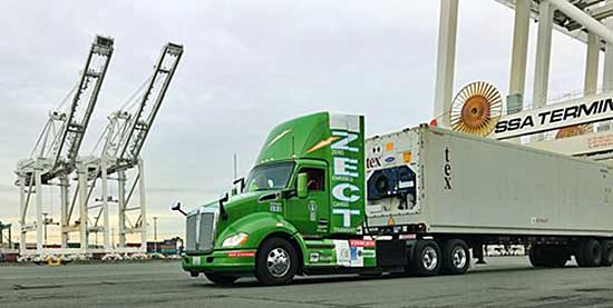 Kenworth Fuel Cell Truck at Port