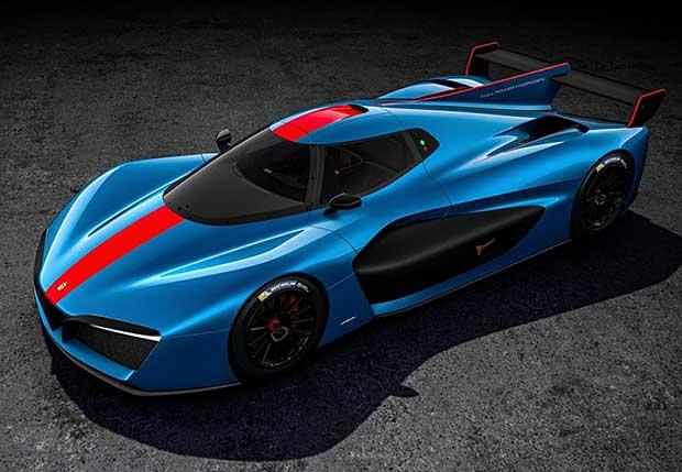 Pininfarina H2-speed hydrogen fuel cell racecar